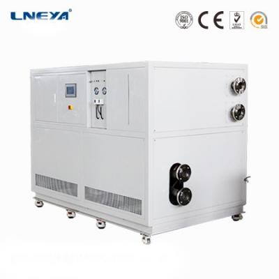 Fully closed cycle high viscosity fluid refrigeration heating flow control system