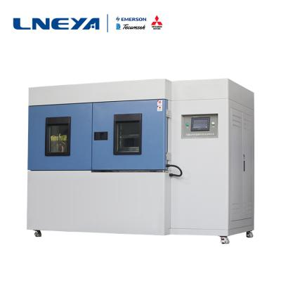 Treatment of insufficient exhaust gas in high and low temperature impact test chamber compressor