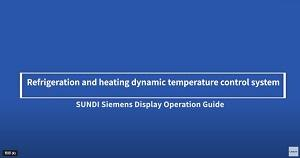 Operation screen guide of dynamic temp. control system SUNDI series equipment