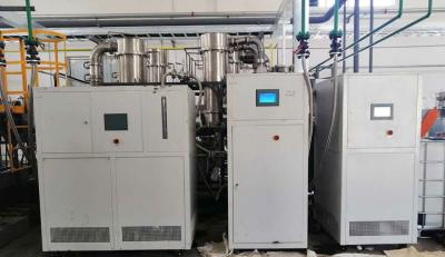 Low temperature chiller applied to polymer material reactor temperature control